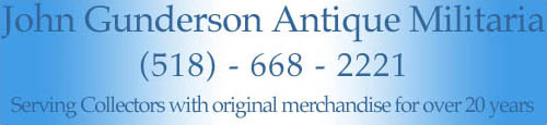 Gunderson Militaria: Serving Collectors for over 20 years!